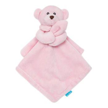 Naninha para Bebê Buba Ursinha Carinhosa Extra Macia Rosa