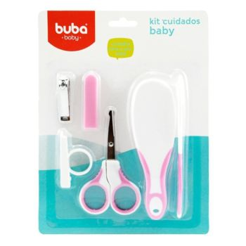 Kit Higiene Buba Cuidados para o Bebê Branco Rosa
