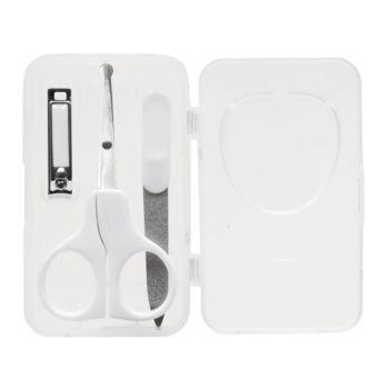Kit Manicure Buba Baby Tesoura Lixa Cortador Estojo Branco