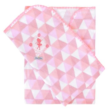 Cobertor Minasrey Bordado com Caixa Muito Mimo Rosa