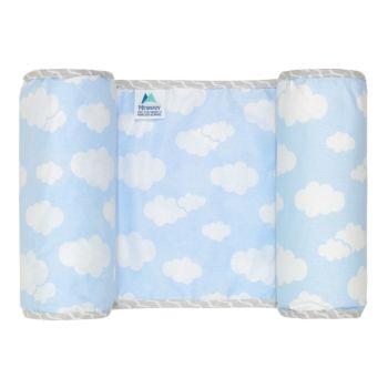 Rolinho Protetor Segura Bebê Minasrey Alvinha Nuvens Azul