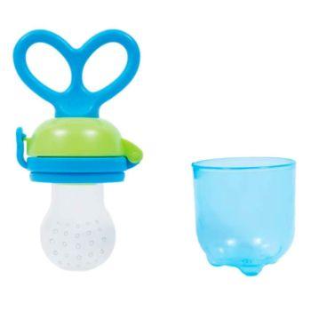 Alimentador De Frutas Para Bebê Buba Anatônico Silicone Azul