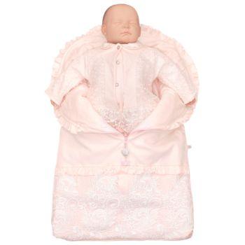 Saída de Maternidade Beth Bebê Porta-Bebê Luxo Luana Rosa