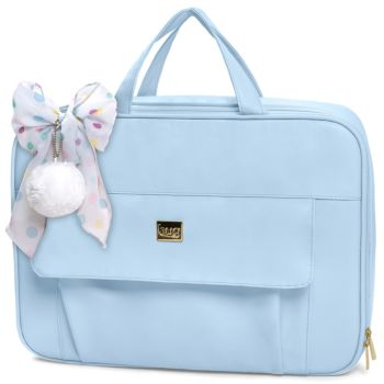 Bolsa Mala Maternidade Hug Baby Requinte Azul Bebê