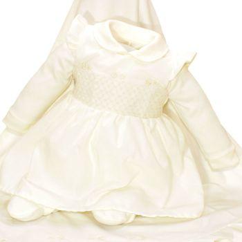 Saída de Maternidade Fofinho Beatriz com Vestido Marfim