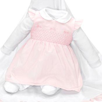 Saída de Maternidade Fofinho Beatriz com Vestido Rosa Claro