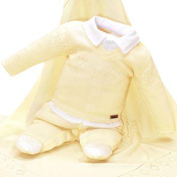 Saída de Maternidade Fofinho William com Casaco Amarelo