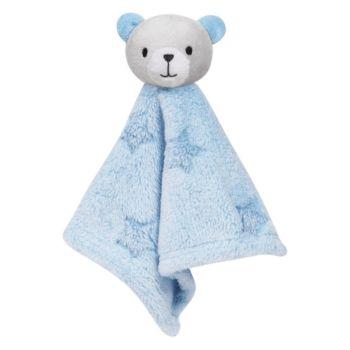 Naninha para Bebê Buba Ursinho Estrelinha Extra Macia Azul