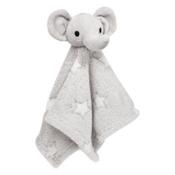 Naninha para Bebê Buba Elefante Estrelinha Extra Macia Cinza