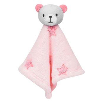 Naninha para Bebê Buba Ursinha Estrelinha Extra Macia Rosa