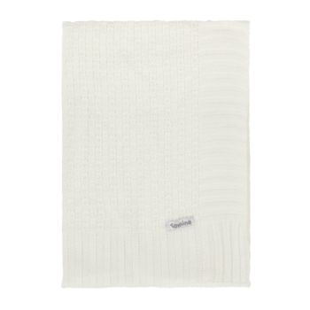 Manta Cobertor de Berço Tricô Tamine Luxo Branco